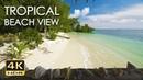 4K HDR Tropical Beach View Relaxing Ocean Wave Sounds Balcony Vista Ultra HD Nature Video
