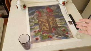 """Распаковка набора """"Снегири"""" от М.П. Студия. Алмазная вышивка российского производства#алмазнаявышивка #алмазнаямозаика #мпстуди"""