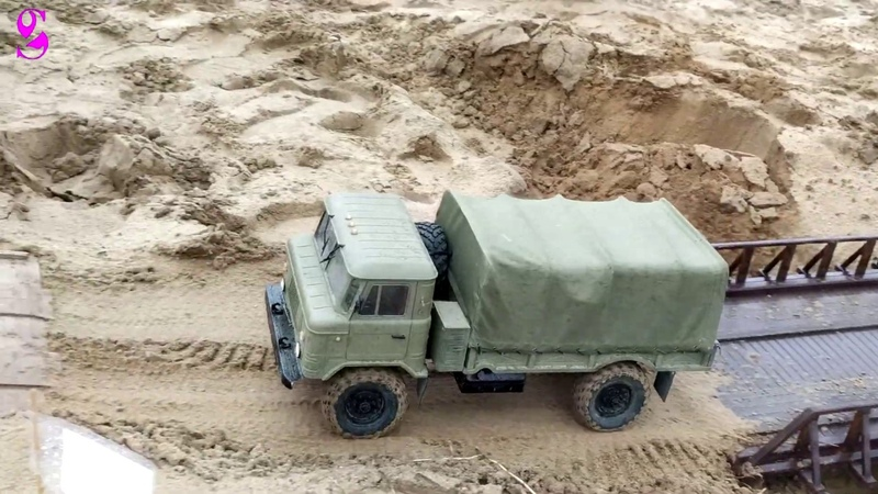 Championship off-road truck models on the radio control in the 1/10 scale Army Reserve GAZ 66