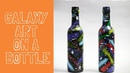 DIY Galaxy art on a bottle by Asha Neog | ANG Creations