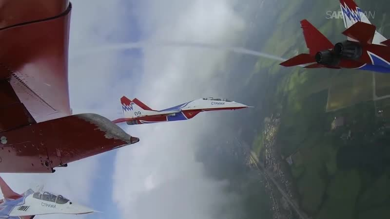 🔵 MiG-29 display team Swifts at Wings of Parma Festival