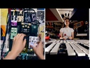 A bunch of percussion through the world's largest pedal board