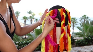 Braiding by color!  2 strands, 3 strands and 4 strands!