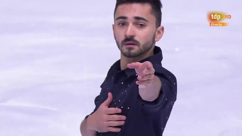 Kevin Aymoz (FRA). FP. Int. de France de Patinage 2019