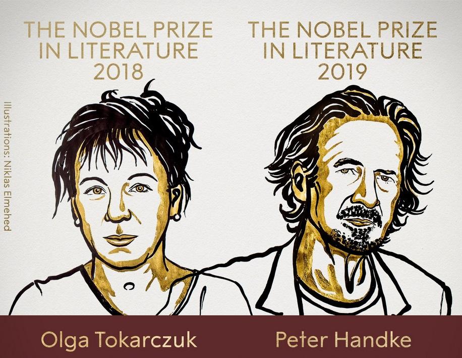 Лауреатами Нобелевской премии по литературе за 2018 и 2019 год стали Ольга Токарчук и Петер Хандке
