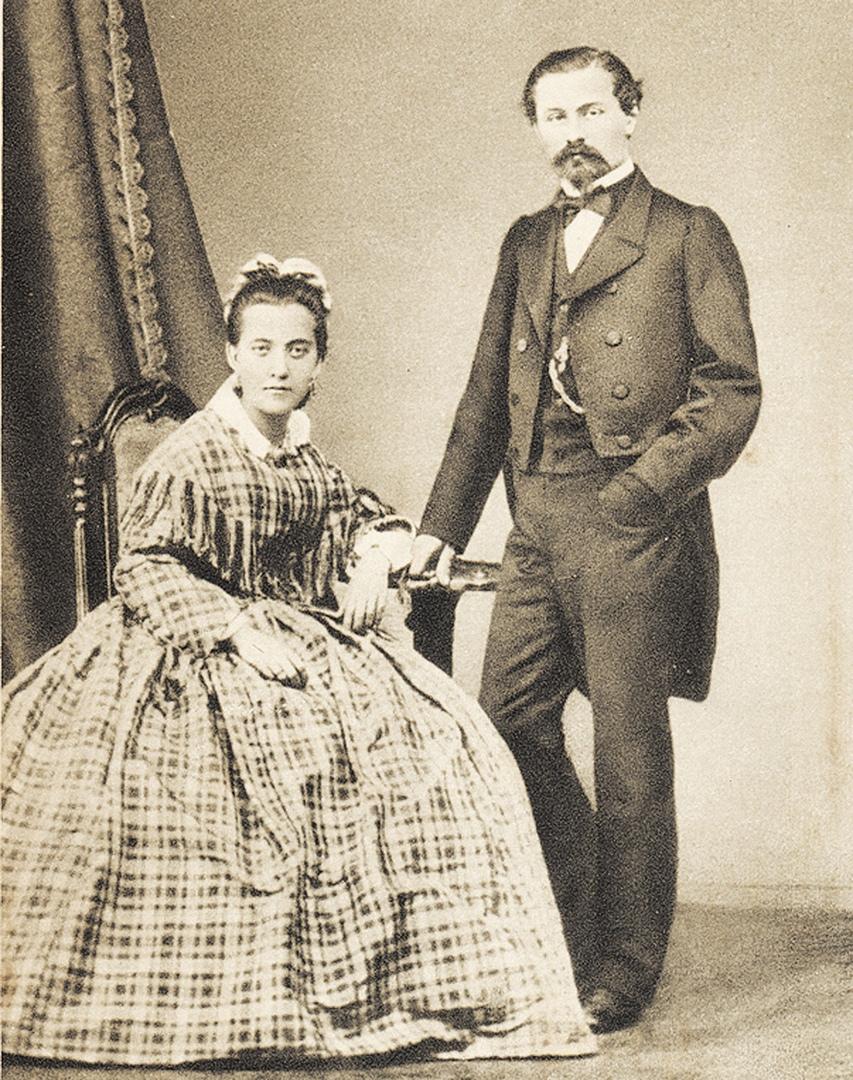 Генрих Афанасьевич Брокар и его супруга Шарлотта.