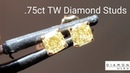 3/4ct Light Yellow Diamond Studs R8727