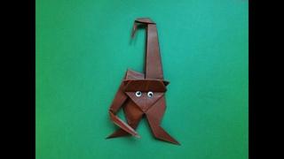 Оригами обезьяна символ 2016 года своими руками