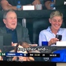 """Ellen DeGeneres on Instagram: """"Yes, that was me at the Cowboys game with @GeorgeWBush over the weekend. Here's the whole story. *link in bio"""""""