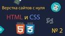 Курс по верстке сайтов с нуля часть 2 Что такое HTML Создание первой страницы