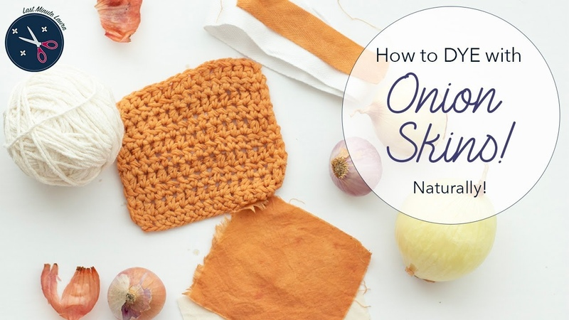How to dye yarn or fabric ORANGE with ONION SKINS | Natural Dye Tutorial | Last Minute Laura