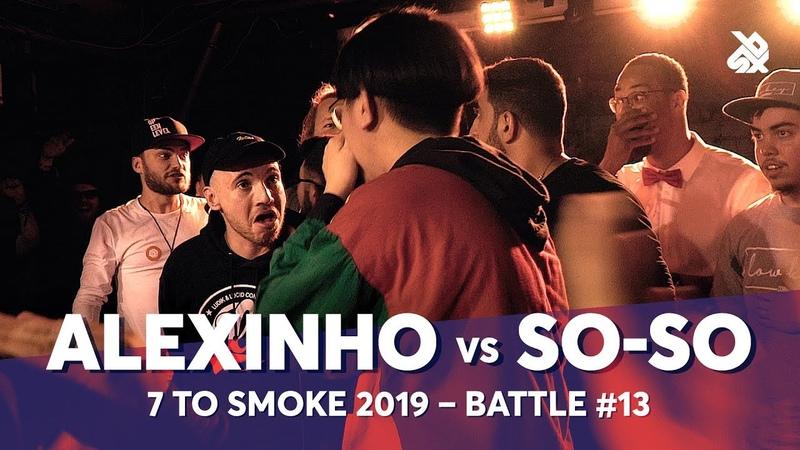 ALEXINHO vs SO SO Grand Beatbox 7 TO SMOKE Battle 2019 Battle 13
