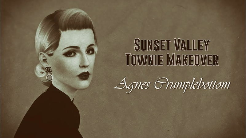 The Sims 3 Sunset Valley Townie Makeover Agnes Crumplebottom