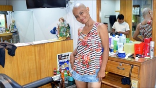 Lady´s long hair shaved off FULL VIDEO