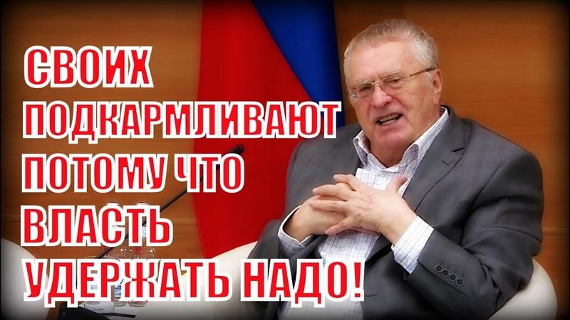 Вся правда о распределении многомиллиардных госпроектов, от Жириновского!