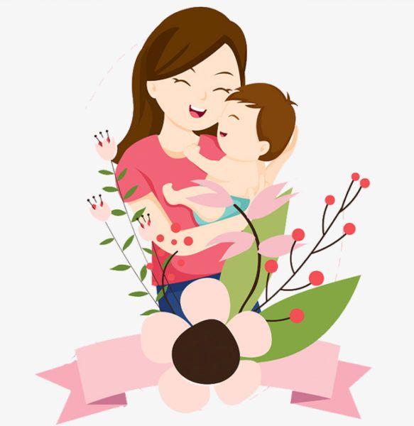 Мама и младенец открытка