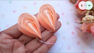 Amazing Kanzashi Flower - Hand Embroidery Works - Ribbon Tricks & Easy Making Tutorial #25