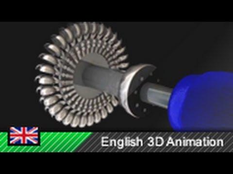 Pelton wheel Pelton turbine Hydro power 3D animation