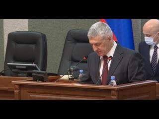 Артур Парфенчиков выступил с отчетом о результатах работы правительства