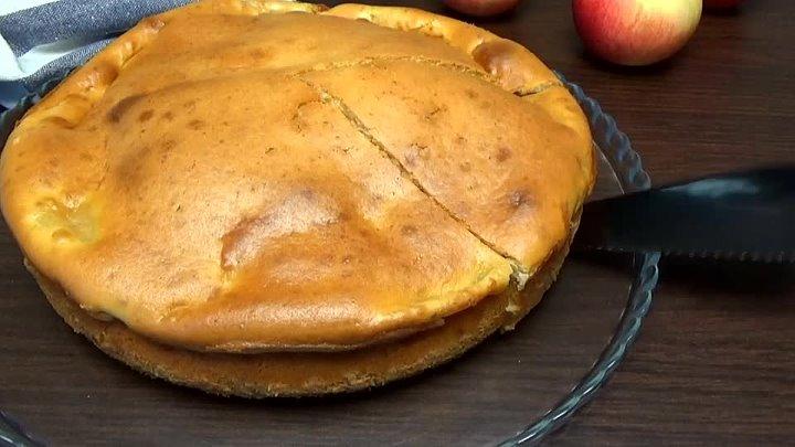 Простой и вкусный яблочный пирог на сметане Тесто как творожное