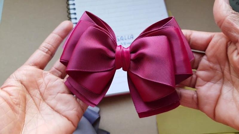 Laço Galla Ribbon Bow Tutorial Fita n 9