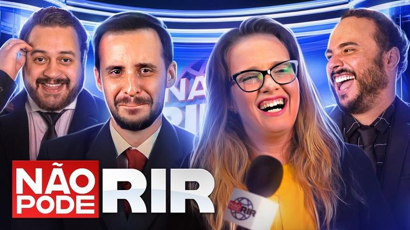 JORNAL NÃO PODE RIR com Marcos Castro Luciana D'Aulizio Ed Gama e Estevam Nabote