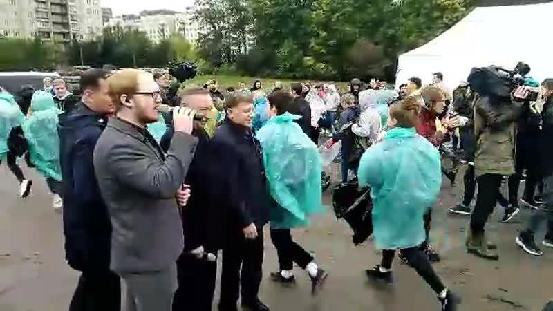 Беглов открыл Чистые Игры в Ржевском лесопарке