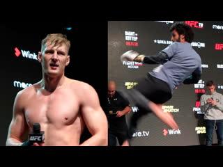 Открытая тренировка бойцов перед UFC Moscow 9 ноября | FightSpace