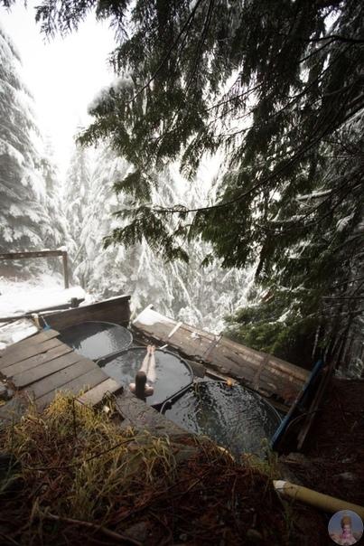 Горячие источники в горах Каскейд, Висконсин