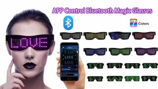 Bluetooth Magic Glasses APP Control Funky Glasses