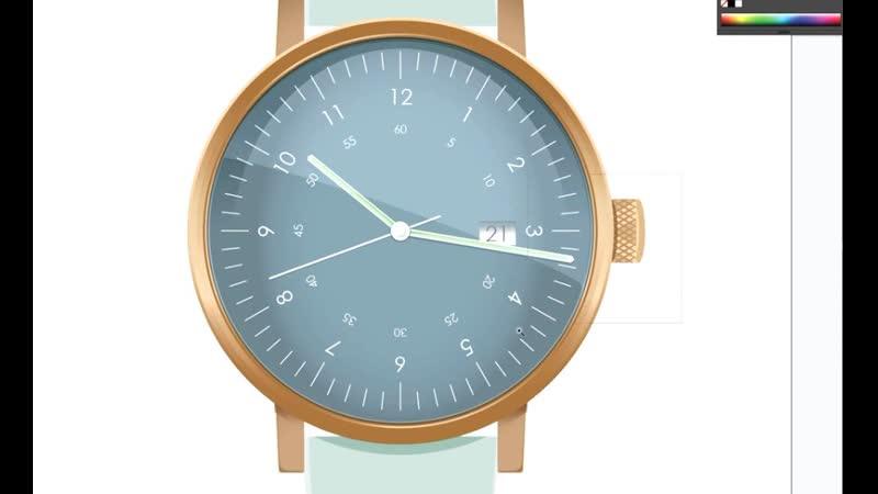 Illustrator tutorial adding realism to vector clock