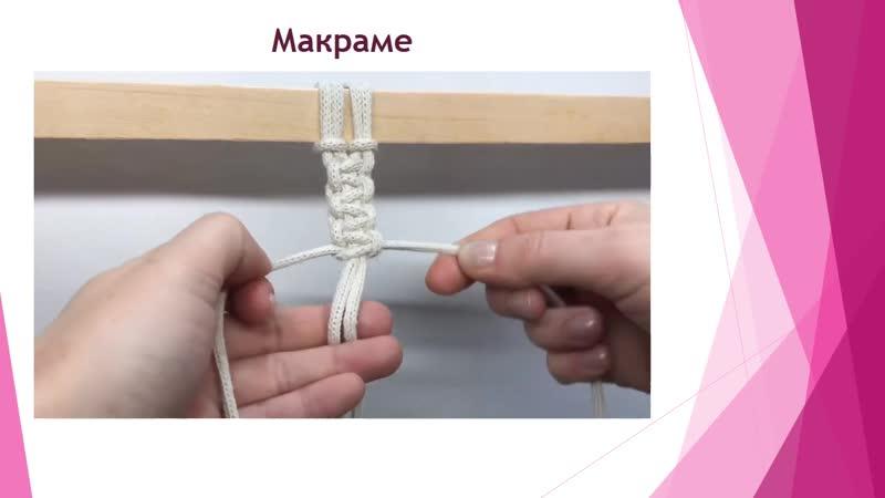Продекор Занятие Ознакомление с техникой плетения макраме плетение на коклюшках фриволите плетение из лозы и газетных трубочек