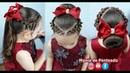 Penteado Infantil Fácil com Trança Falsa Coque ou Amarração para Festas ou Formatura🌹