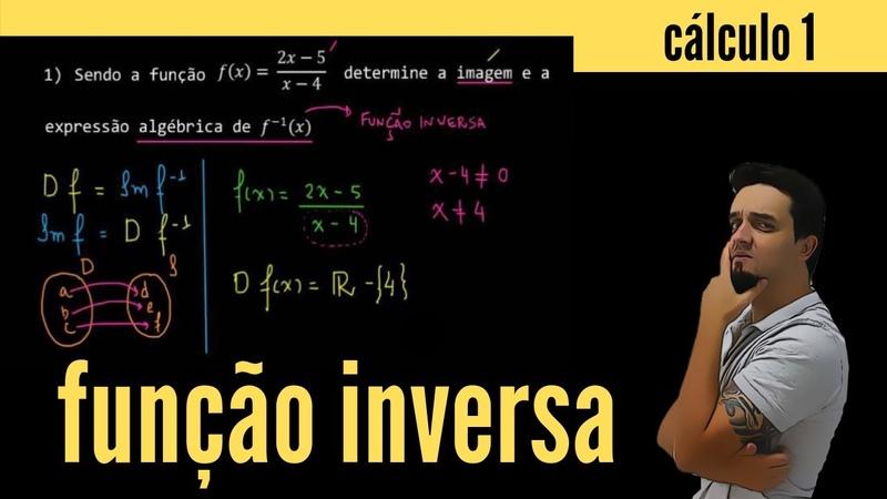 Função inversa Prof Reginaldo Moraes Matemática