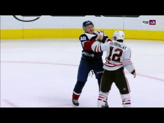 Alex debrincat and samuel girard exchange blows in rare fight