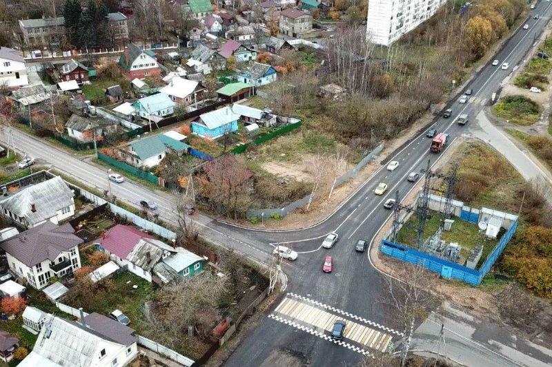Пропускная способность четырех перекрестков была улучшена в Дмитрове