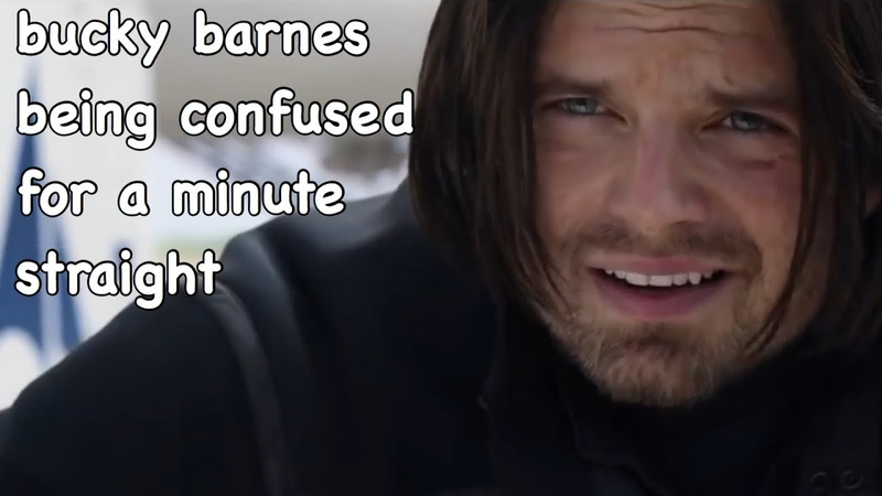 Bucky barnes being confused for a minute straight