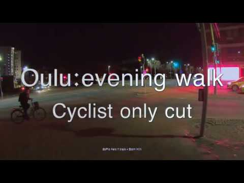 Oulu evening walk Cyclists cut