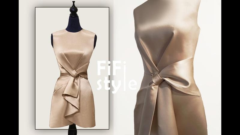 FiFi Style Thiết kế đầm xếp nơ bằng phương pháp xoay ben tạo ly hộp