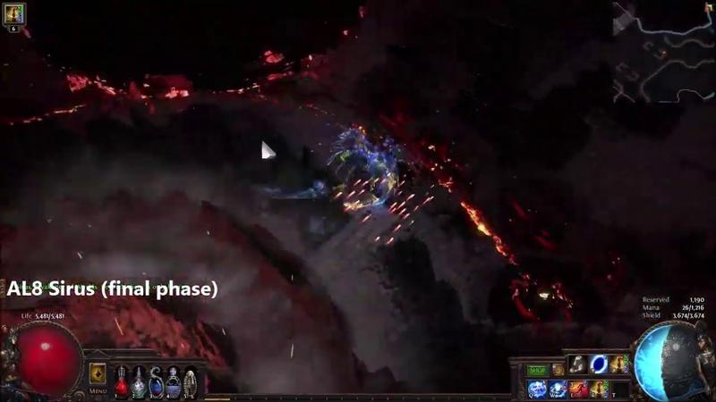 Видео PoE 3.9 - Astral Projector Shockwave Totems endgame clearing bosses смотреть онлайн