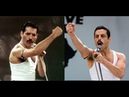 BOHEMIAN RHAPSODY 2018 Side By Side w/ QUEEN 1985 LIVE AID Don't Stop Me Now The Show Must Go On