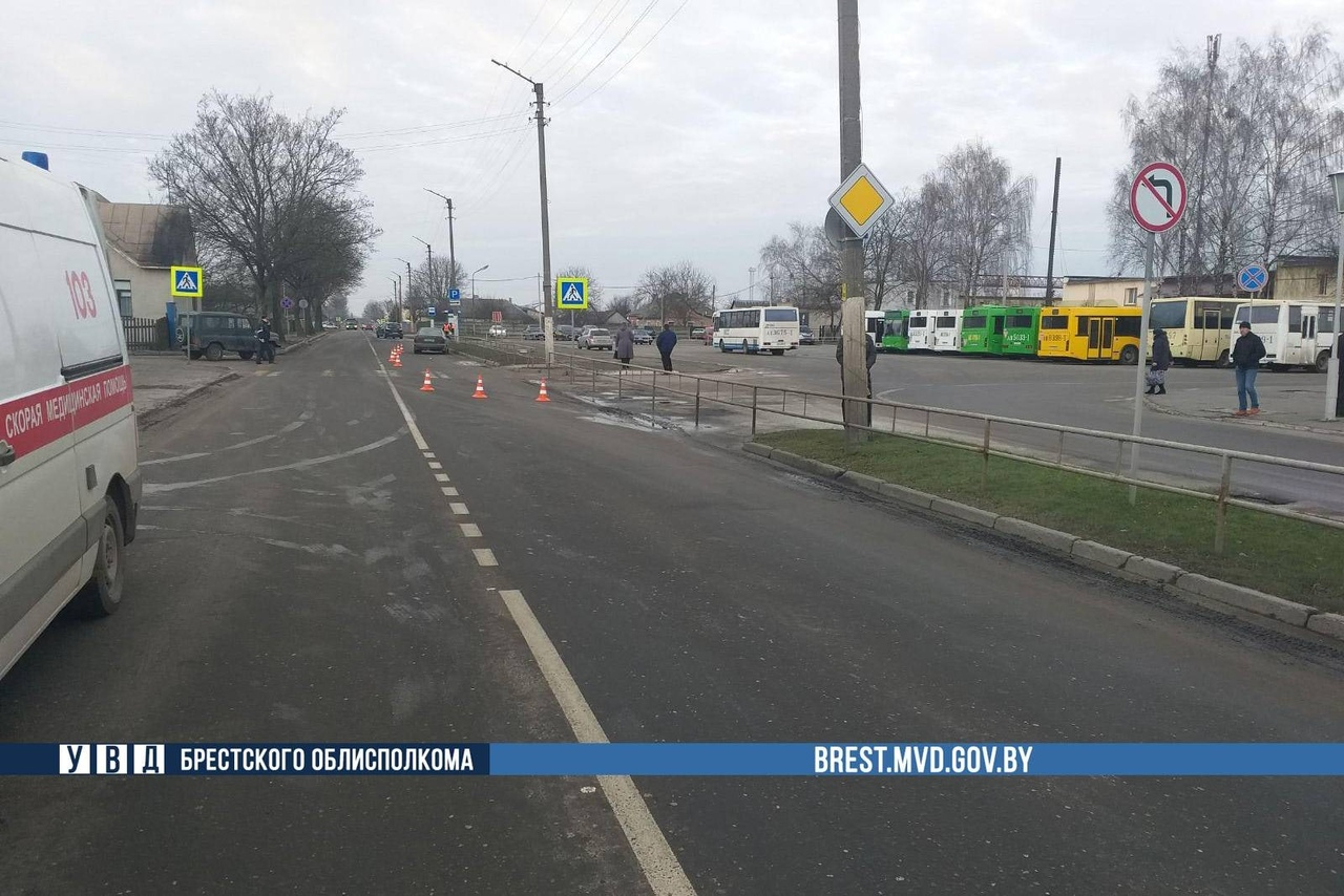 В Пинске водитель на «Вольво» насмерть сбил мужчину на переходе