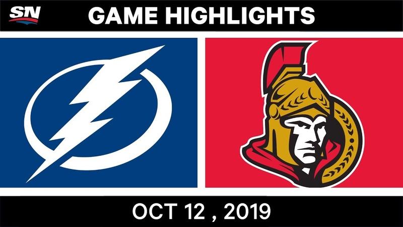 NHL Highlights | Lightning vs Senators - Oct 12th 2019