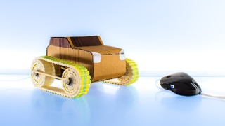 How to make an AMAZING CAR in remote control on a COMPUTER MOUSE | DIY Car from CARDBOARD