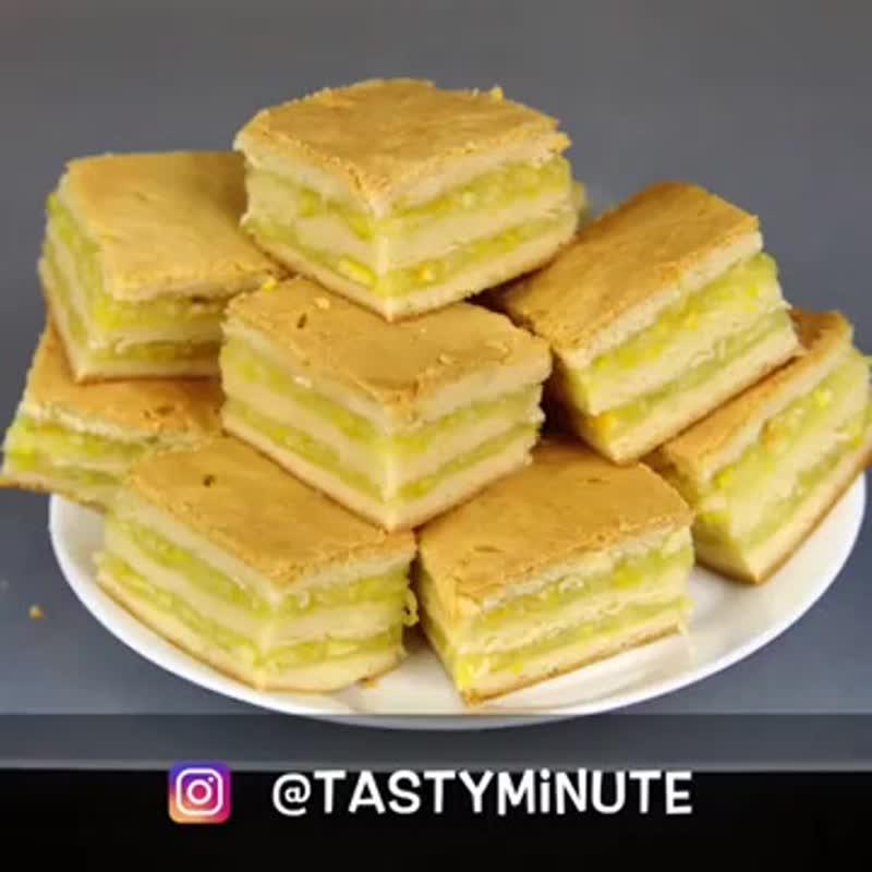 Домашнее пирожное с лимонно-апельсиновой начинкой - безумно вкусно! Все гости будут просить рецепт! А он простейший..mp4