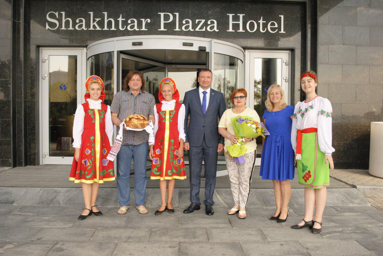 Гости из Луганской Народной Республики посетили г. Донецк по случаю 150-летия