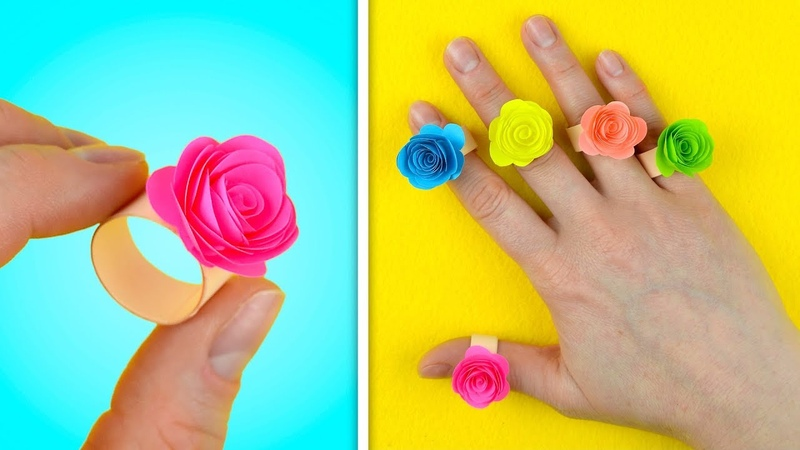 Beautiful Rose Ring Handmade Paper crafts for kids
