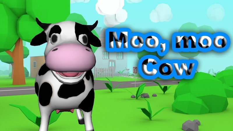 🐄 Moo Moo Cow 🐄 Cow Song Nursery Rhymes Songs for Kids Karaoke for Сhildren