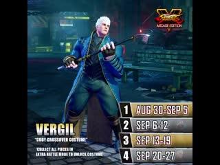 Street fighter v — vergil's costume for cody