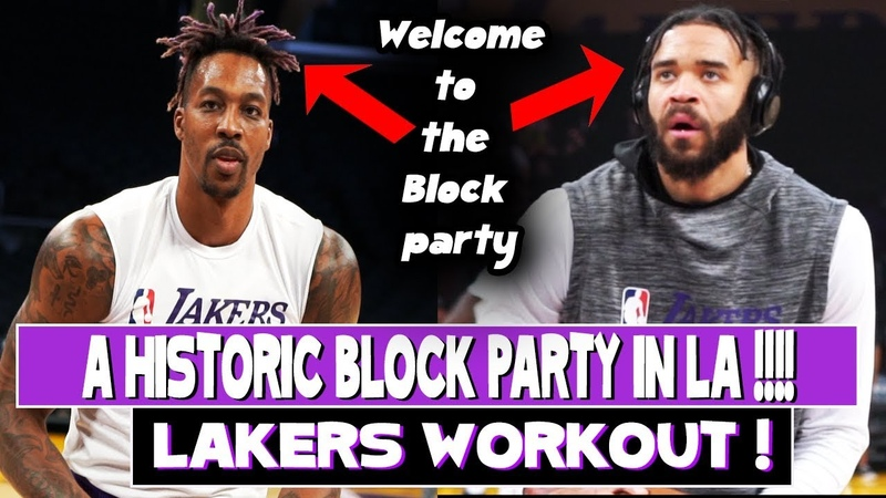 Dwight Howard And JaVale McGee workout Was today the best Block Performance in Lakers History